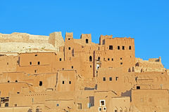 Clay kasbah Ait Benhaddou Morocco Stock Photography