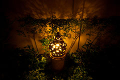 Clay lamp in garden Stock Photo