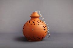 Clay Lamp hecho a mano indio Fotos de archivo libres de regalías