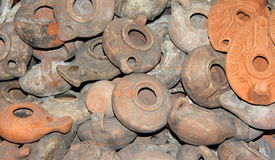 Clay lamps Stock Photography