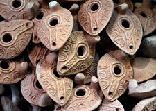 Clay lamps Stock Image