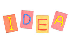 Clay letters. Words IDEA Royalty Free Stock Photography