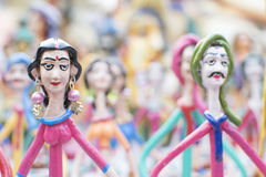 Clay made dolls , handicraft items on display , Kolkata Stock Photography