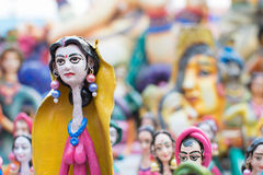Clay made dolls , handicraft items on display , Kolkata Royalty Free Stock Photography