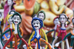 Clay made dolls , handicraft items on display , Kolkata Stock Images