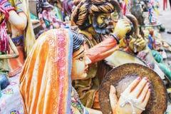 Clay made dolls , handicraft items on display , Kolkata Royalty Free Stock Images