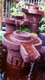 Clay made garden fountain Philippines Royalty Free Stock Photo