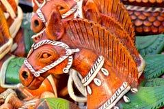 Clay Made Horse Head Body parte a fotografia conservada em estoque Imagens de Stock Royalty Free