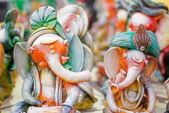 Clay made Lord Ganesha doll , handicraft items on display , Kolkata Stock Image