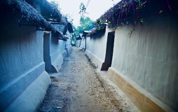 Clay made traditional houses around an urban village. Beautiful clay made traditional houses around an urban village in Bangladesh unique photo royalty free stock photo