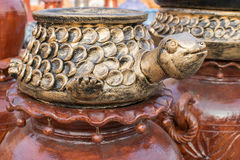 Clay made turtle, handicraft items on display , Kolkata Royalty Free Stock Images