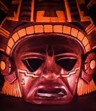 Clay mask of a maya in the dark. End of the world Royalty Free Stock Photo