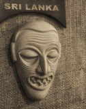 Clay Mask from Sri Lanka Stock Image