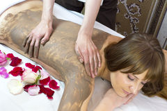 Clay massage Stock Images