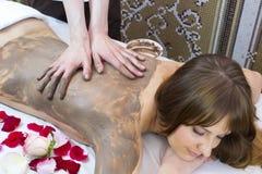 Clay massage Royalty Free Stock Photos