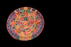 Clay Maya Calendar coloré typique Photos libres de droits