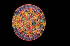 Clay Maya Calendar colorato tipico Fotografia Stock Libera da Diritti
