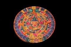 Clay Maya Calendar coloreado típico Foto de archivo libre de regalías