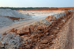 Clay mining Royalty Free Stock Photography