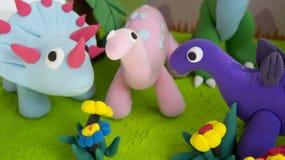 Clay model dinosaur art Stock Photo