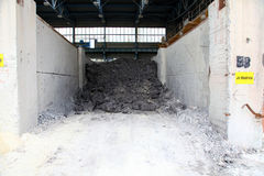 Clay modrice reserves in the factory. Much stones and rocks in reserves Stock Images