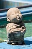 Clay Monk Happy Statues, estilo tailandés Fotos de archivo libres de regalías