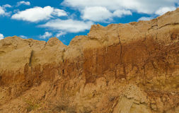 Clay mountain in an open pit Royalty Free Stock Photo