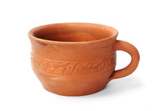 Clay mug Royalty Free Stock Image