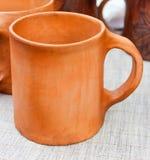 Clay mug Stock Image