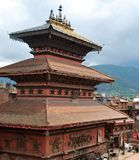 Clay Nepali byggnad i Bhaktapur Fotografering för Bildbyråer