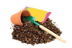 clay odizolowane white garnek ziemi Obraz Stock