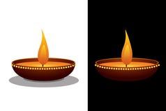 Clay Oil Lamp Stock Afbeeldingen