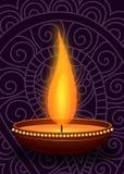 Clay Oil Lamp Royalty-vrije Stock Foto's