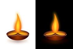 Clay Oil Lamp Stock Foto's