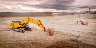 Clay open cast mine. Royalty Free Stock Images
