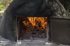 Clay oven. Used in the field to make food, bread Royalty Free Stock Photography