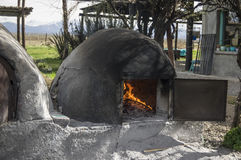 Clay oven. Used in the field to make food, bread Royalty Free Stock Image