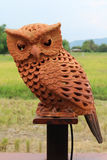 Clay owl Royalty Free Stock Image