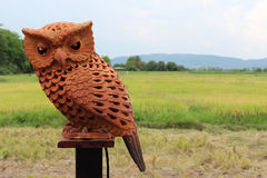 Clay owl Stock Images