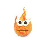 clay, płomień pozowanie Zdjęcia Stock