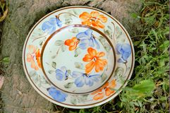 Clay painted plates Royalty Free Stock Photo
