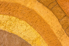 Clay patterned layer of clay soil for the background. Stock Photos