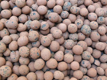Clay pebbles Stock Photo