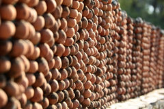Clay pebbles wall Royalty Free Stock Image