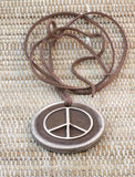 Clay pendant pacifist Stock Images