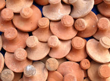 Clay pestles Stock Photography