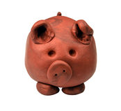 Clay pig Stock Image
