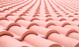 Clay pile roof closeup Stock Photos