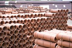 Clay Pipes at Factory Stock Image