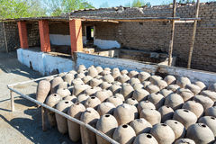 Clay Pisco Jars stock images
